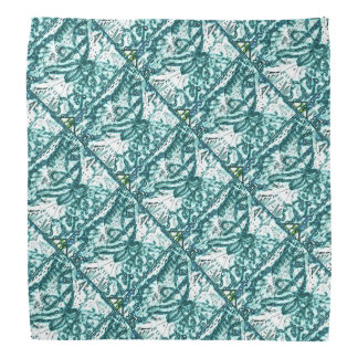 Green and White Butterfly Patterned Bandannas