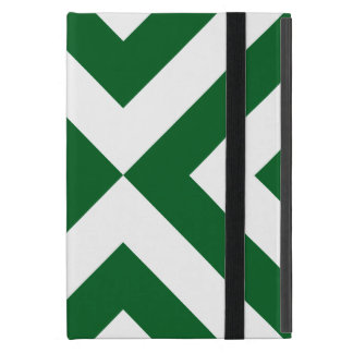 Green and White Chevrons iPad Mini Case