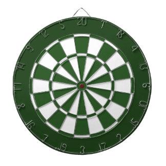 Green and White Dartboard