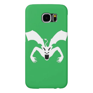 Green and White Devil Samsung Galaxy S6 Cases