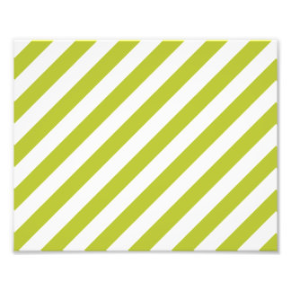 Green and White Diagonal Stripes Pattern Photo