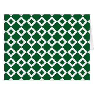 Green and White Diamond Pattern Card