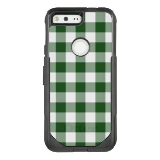 Green and White Gingham Plaid OtterBox Commuter Google Pixel Case
