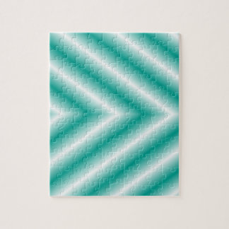 Green and White Gradient Arrows Jigsaw Puzzle