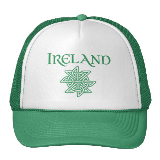 Green and White Irish Pride Celtic Knot Cap
