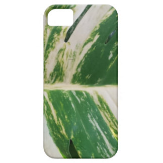 Green and White Leaf Design Product Case For The iPhone 5