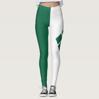 Green and White Leggings