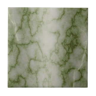 Green and White Marble Ceramic Tile