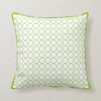 green and white  modern  pillow