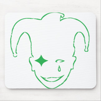 Green and White MTJ Mouse Pad