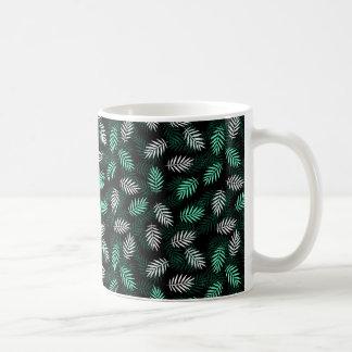 Green and White Palm Leaves Coffee Mug
