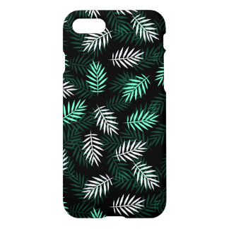 Green and White Palm Leaves iPhone 7 Case