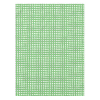 Green and white paws pattern tablecloth