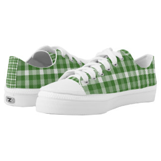 Green and White Plaid St. Patricks Day Shoes