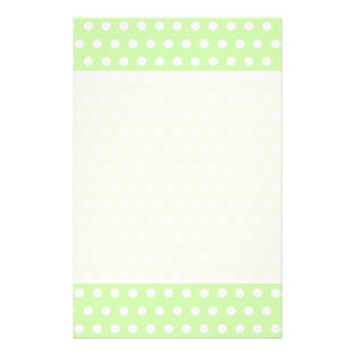 Green and White Polka Dot Pattern. Spotty. 14 Cm X 21.5 Cm Flyer
