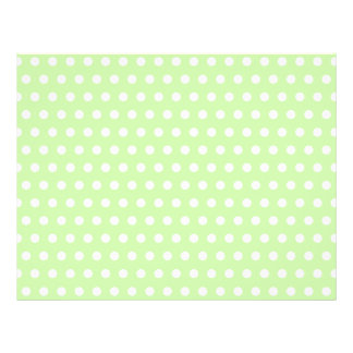 Green and White Polka Dot Pattern. Spotty. Flyers