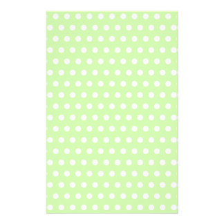 Green and White Polka Dot Pattern. Spotty. Personalized Flyer