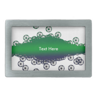 Green and White Soccer Belt Buckle