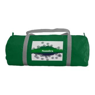 Green and White Soccer Duffel Bag Gym Duffel Bag