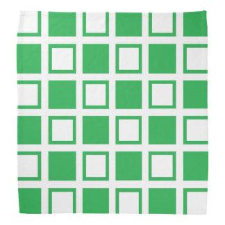 Green and White Squares Bandana