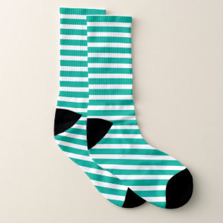 Green and white stripe pattern 1