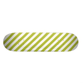Green and White Stripe Pattern 20 Cm Skateboard Deck