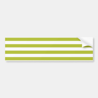 Green and White Stripe Pattern Bumper Sticker