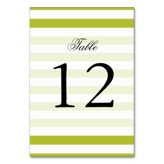 Green and White Stripe Pattern Card