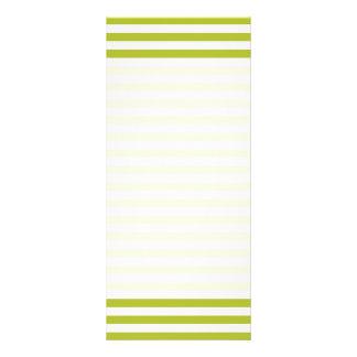Green and White Stripe Pattern Custom Rack Cards