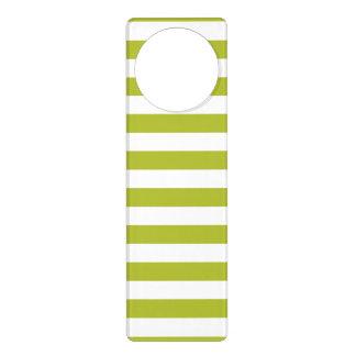Green and White Stripe Pattern Door Hanger