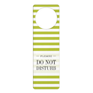 Green and White Stripe Pattern Door Hanger