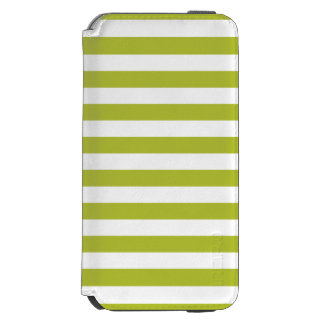 Green and White Stripe Pattern Incipio Watson™ iPhone 6 Wallet Case