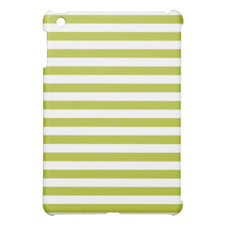 Green and White Stripe Pattern iPad Mini Covers