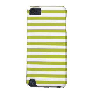 Green and White Stripe Pattern iPod Touch 5G Case