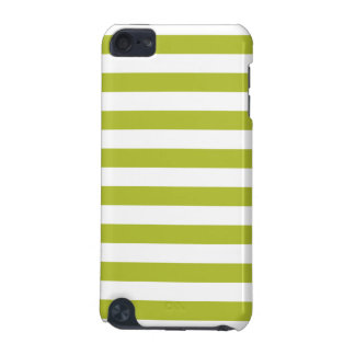 Green and White Stripe Pattern iPod Touch (5th Generation) Cases