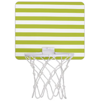 Green and White Stripe Pattern Mini Basketball Hoop