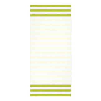 Green and White Stripe Pattern Rack Card