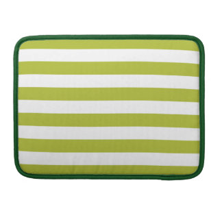 Green and White Stripe Pattern Sleeve For MacBooks