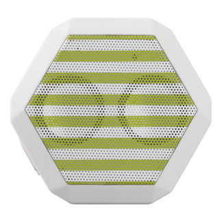 Green and White Stripe Pattern White Bluetooth Speaker