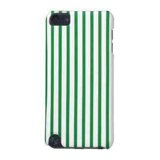 Green and White Stripes iPod Touch (5th Generation) Covers