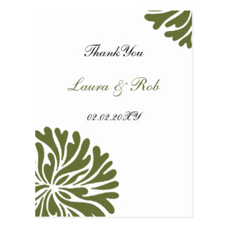 green and white ThankYou Cards Post Cards