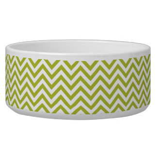 Green and White Zigzag Stripes Chevron Pattern