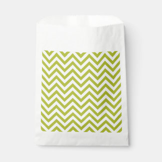 Green and White Zigzag Stripes Chevron Pattern Favour Bag