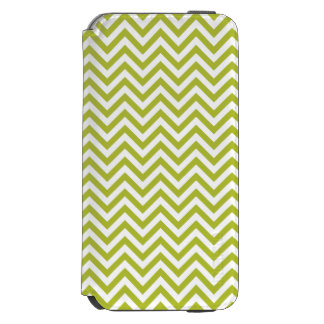 Green and White Zigzag Stripes Chevron Pattern Incipio Watson™ iPhone 6 Wallet Case