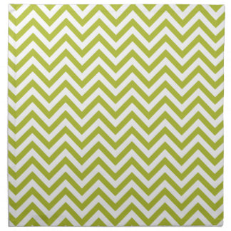 Green and White Zigzag Stripes Chevron Pattern Napkin