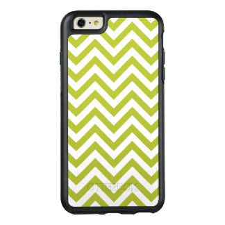 Green and White Zigzag Stripes Chevron Pattern OtterBox iPhone 6/6s Plus Case