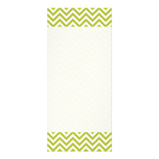 Green and White Zigzag Stripes Chevron Pattern Rack Card