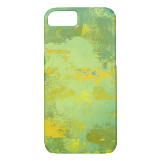 Green and Yellow Abstract Art Design iPhone 8/7 Case