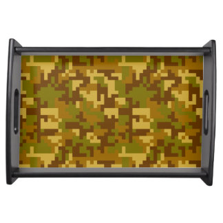 Green and Yellow Desert Army Camo pattern Serving Tray