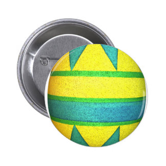 Green and Yellow Dyed Triangle Easter Egg Pin